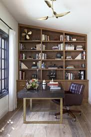 arts and crafts home office with bookcase arts crafts home office