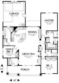 Square feet  Home plans and Floor plans on PinterestLike the floor plan reversed  out garage attached  Master bedroom in the back