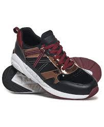 Кроссовки <b>Superdry</b>, черный, бордовый, бронза 36 размер ...