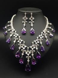 <b>2018 new fashion luxury</b> romantic retro purple water droplet zircon ...