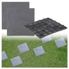 patio slab sets: plastic patio paving slabs imitation garden tile stone effect feature path lawn