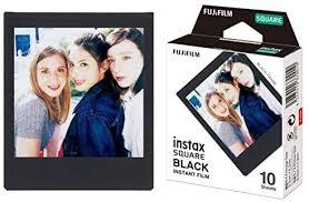 <b>Fujifilm Instax Square</b> Frame Film Sheets 10 Pack, <b>Black</b> (87302 ...