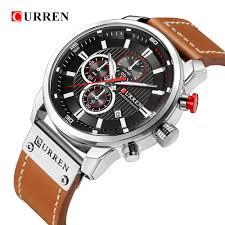 CURREN 8291 <b>Luxury Brand</b> Men Analog Digital Leather Sports ...
