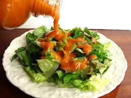 Image result for green salad with dressing