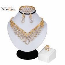 <b>MUKUN 2019 Women</b> Luxury <b>Bridal</b> Jewelry Sets Indian African ...
