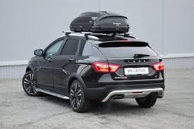 Купить <b>защиту переднего</b>/<b>заднего</b> бамперов Lada Vesta SW ...