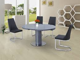 round glass extendable dining table: eclipse round oval gloss glass extending  to  cm dining table grey