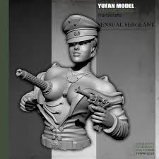 YUFan Model Resin Kits Bust <b>Sexy</b> female mechanical <b>half body</b> ...