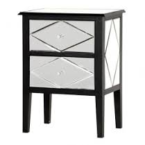 miroir bedside art deco mirrored furniture