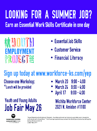 yep workshops workforce alliance of south central kansas or please your local workforce center for assistance if you do not register on kansasworks com at least one day in advance you will not be allowed