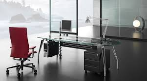 charming red foam chrome computer black glass office desk