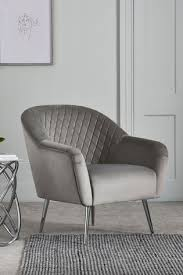 Buy Hamilton <b>Armchair With Chrome Legs</b> from the Next UK online ...