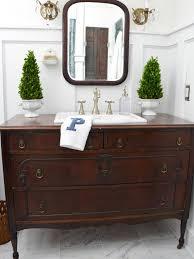 traditional dresser gets new life as bathroom vanity photos bathroom vanity