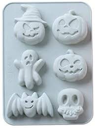 Amazon.co.jp: Creacom <b>Halloween Silicone Cake Mold</b> Baking ...