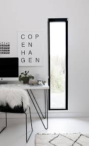 workspace black white decor copenhagen black and white print by soouk scandinavian workspace with