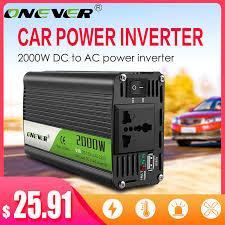 Onever Inverter 12v 220v 2000W Power Inverter <b>DC To AC 12V</b> To ...