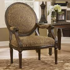 Ashley Furniture Kitchener Cambridge Amber Traditional Exposed Wood Accent Chair By