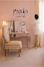 Paris Inspired Bedrooms Amazoncom Paris Is Always A Good Idea Vinyl Wall Decal Home