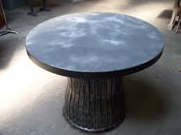 images zinc table top: round zinc top table s nyrubbish bin base roll jpg