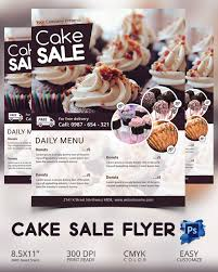 bake flyer template 24 psd indesign ai format cake flyer template