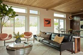 livinghomes c6 designed by jamie bush in palm springs modernism week inspiration for a midcentury open black leather mid century