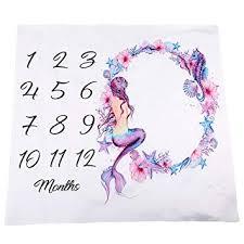 Kasla <b>Baby</b> Monthly Milestone <b>Blanket</b>, Premium <b>Polyester Cotton</b> ...