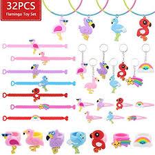 JUSTIDEA 32 Pcs Flamingo Bracelets Wristband ... - Amazon.com