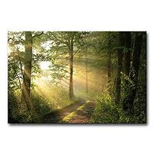 Forest Wall Art Modern Canvas Painting The Picture ... - Amazon.com
