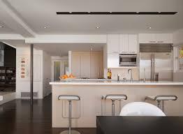 dark flooring kitchen modern interesting ideas with stainless steel peninsula layout bedroom modern kitchen track