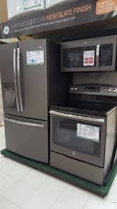 black appliance matte seamless kitchen: ge slate finish appliances so beautiful