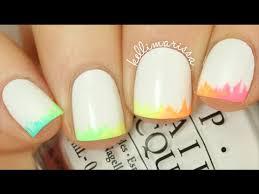 NO <b>TOOLS NAIL ART</b>: Easy Rainbow Ombre Tips <b>Manicure</b> || KELLI ...
