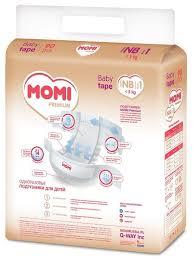 Купить <b>Momi подгузники Premium NB</b> (0-5 кг) 90 шт. по низкой ...