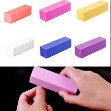ELECOOL BEAUTY <b>6</b> Colors <b>1pc</b> File Buffer Block UV Gel <b>Nail</b> ...