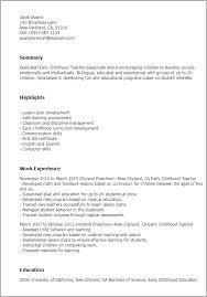 professional early childhood teacher templates to showcase your    resume templates  early childhood teacher