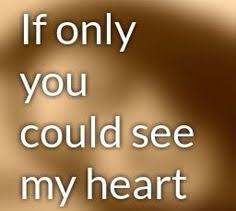Image result for if you could see my heart