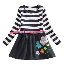 JUXINSU Toddler Girls Stripe Flower Cotton Long ... - Amazon.com