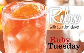 Ruby Tuesday Relax eGift Card | GiftCardMall.com