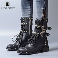 <b>Prova Perfetto</b> Punk Style Women Gladiator Boots Handsome Rivets ...