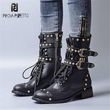 <b>Prova Perfetto</b> Punk Style Women Gladiator Boots Handsome Rivets ...