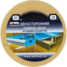 <b>Лента клейкая двухсторонняя Unibob</b>, 50 мм х 25 м в Москве ...