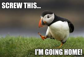Dejected Puffin memes | quickmeme via Relatably.com