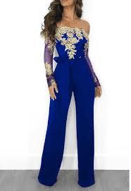 Elegant Appliques Lace <b>Off Shoulder</b> Jumpsuit in 2019 | <b>Off</b> ...