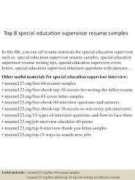 topspecialeducationsupervisorresumesamples lva app thumbnail jpg cb