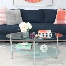 wade logan jean glass oval coffee table reviews ca wade logan jean glass oval coffee table