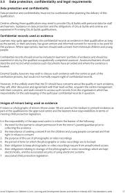 level diploma for children s care learning and development guidance on data protection and the obligations of city guilds and centres are explained in