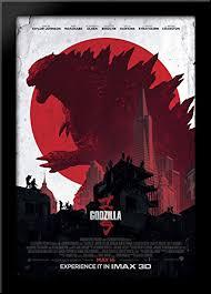 <b>Godzilla</b> 28x40 Large Black Wood Framed Print <b>Movie Poster Art</b>
