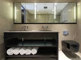 bathroom furniture with black bathroom vanity and white towels ideas thumbnail black and white bathroom furniture