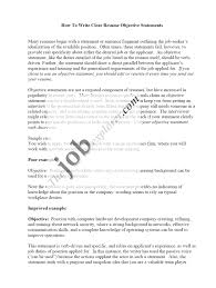 sample objective statement for hr resume