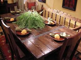 How To Make A Dining Room Table Build A Dining Table From Salvaged Materials Living Room And