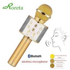 Roreta <b>WS-858 Wireless</b> Bluetooth <b>Karaoke Microphone Portable</b> ...
